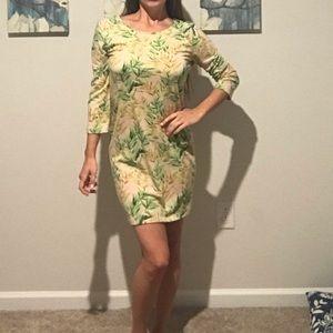 Comfy Cotton Palm Dress